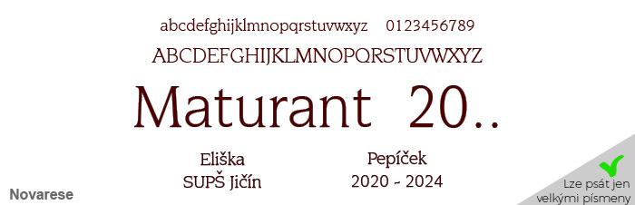 27ad46914 Maturitní stužky - 3 stuhy - zlaté písmo